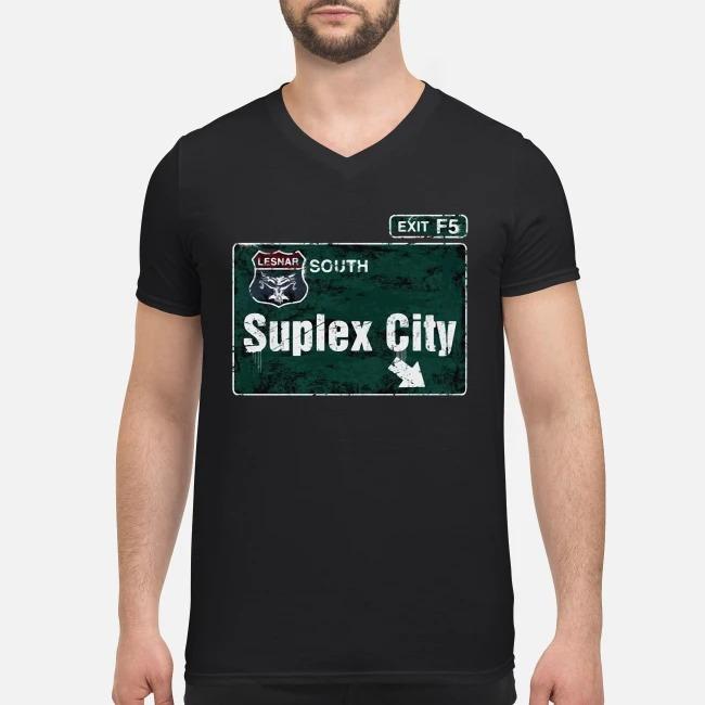Brock Lesnar Suplex City V-neck T-shirt