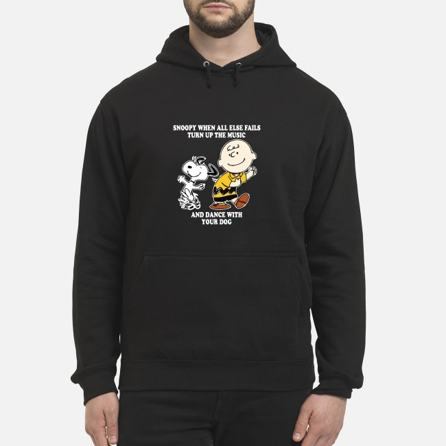 Charlie Brown and Snoopy when all else fails turn up the music and dance Hoodie