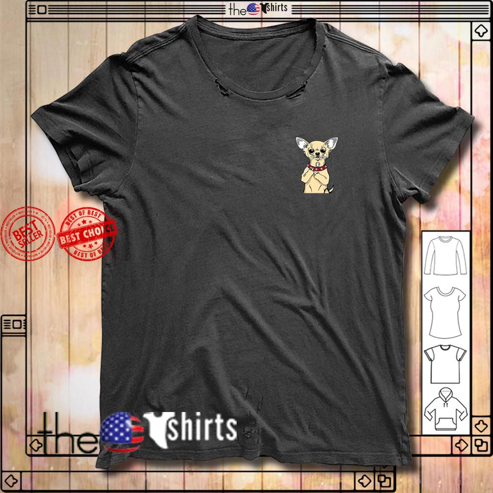 Chihuahua in pocket shirt