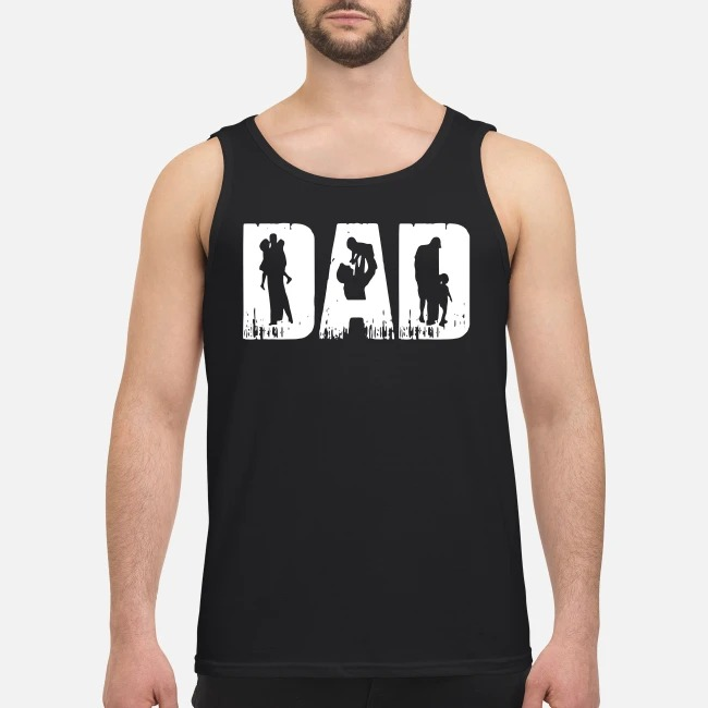 Dad with baby Tank top