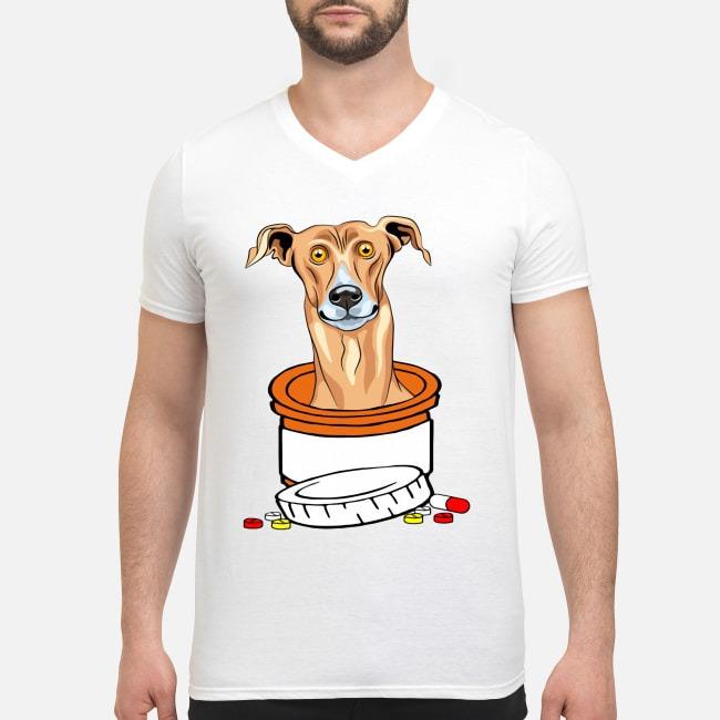 Dog Antidepressant Greyhound V-neck T-shirt
