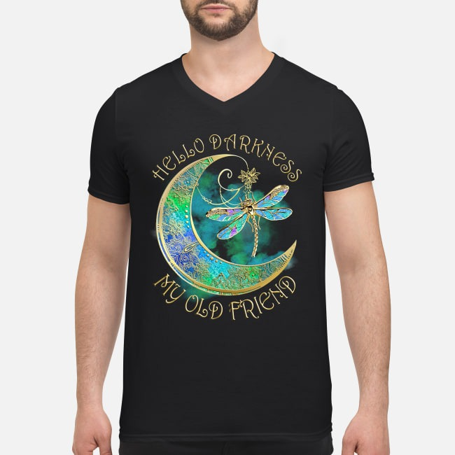 Dragonfly hello darkness my old friend V-neck T-shirt