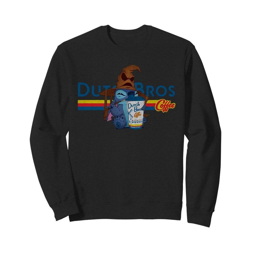 Dutch Bros Coffee Stitch Halloween version Sweater