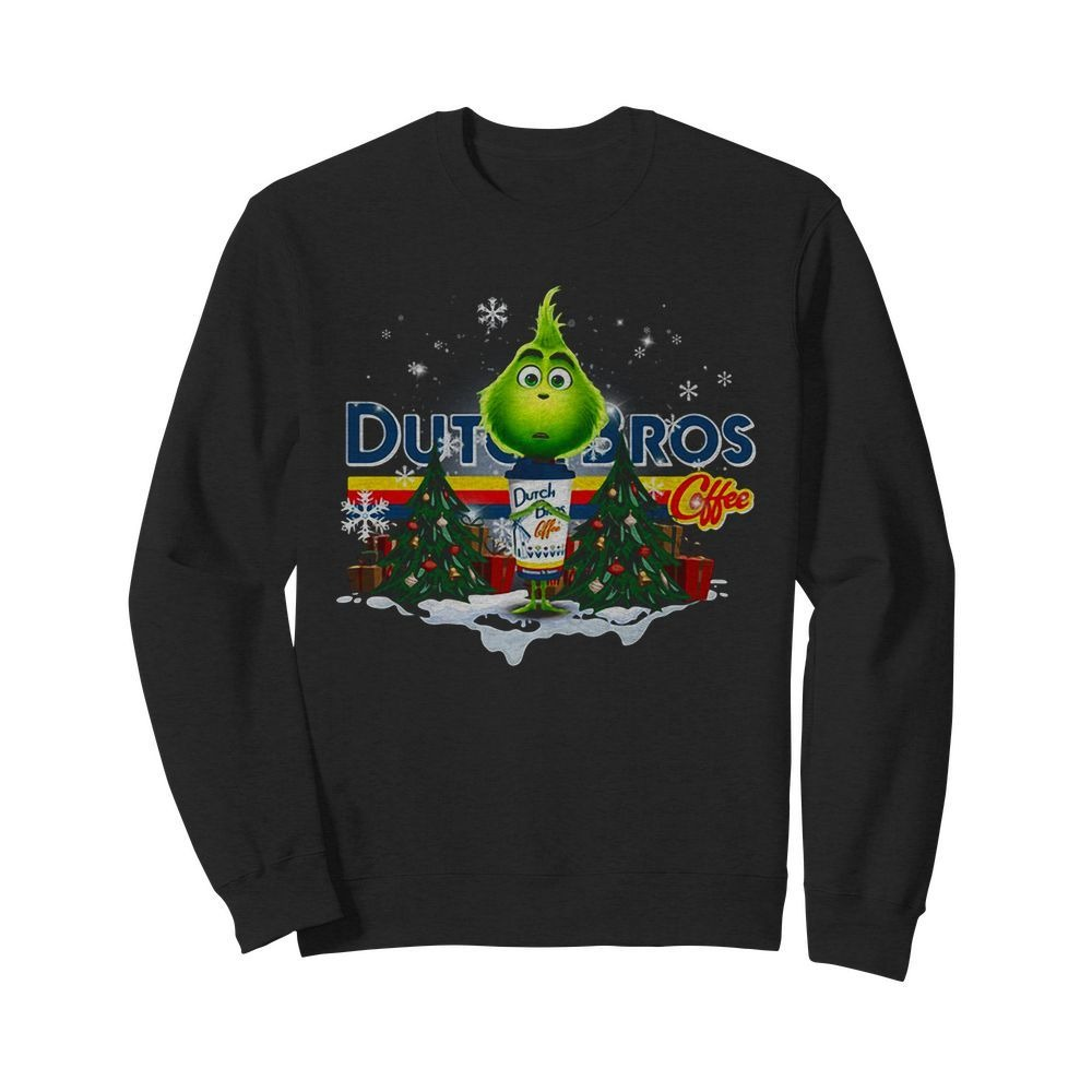 Grinch hug Dutch Bros Coffee Christmas Sweater