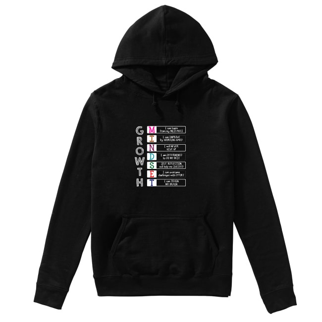 Growth Mindset mistakes Improve Never Determined Hoodie