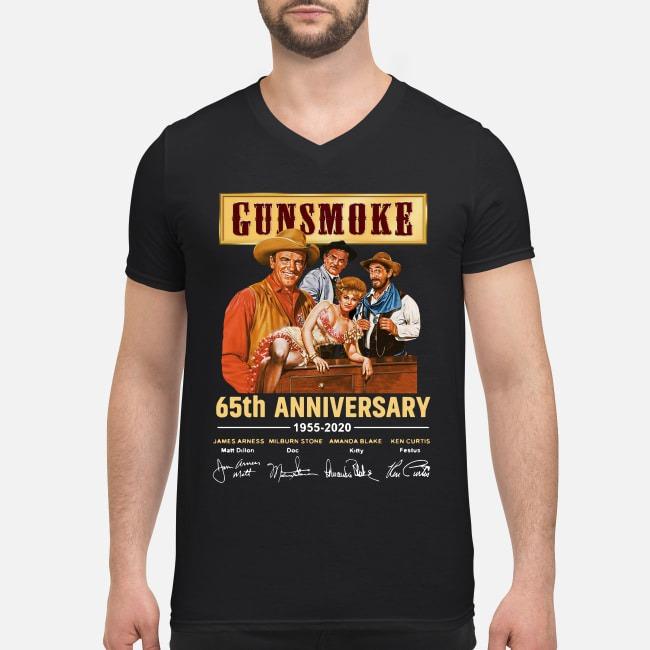 Gunsmoke 65th Anniversary 1955-2020 V-neck T-shirt