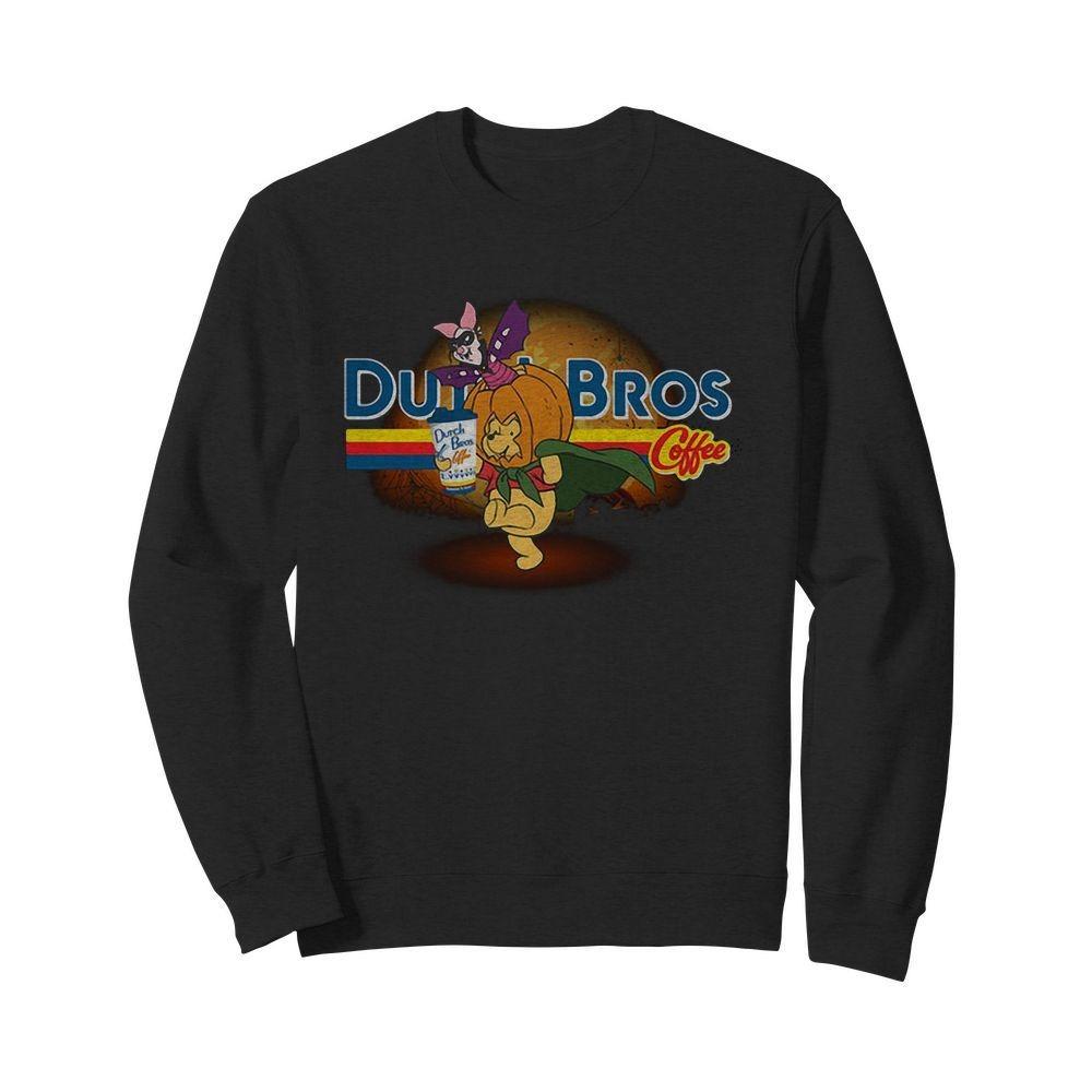 Halloween Piglet and Winnie The Pooh Dutch Bros Coffee Sweater
