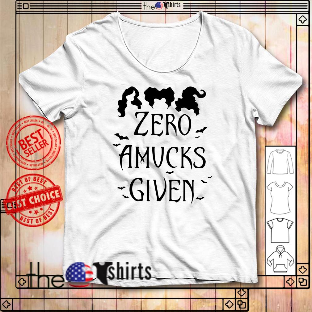 Hocus Pocus Zero Amucks given shirt