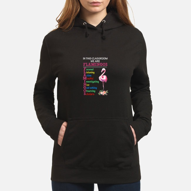 In this classroom we are Flamingos focused listening active mindful Hoodie