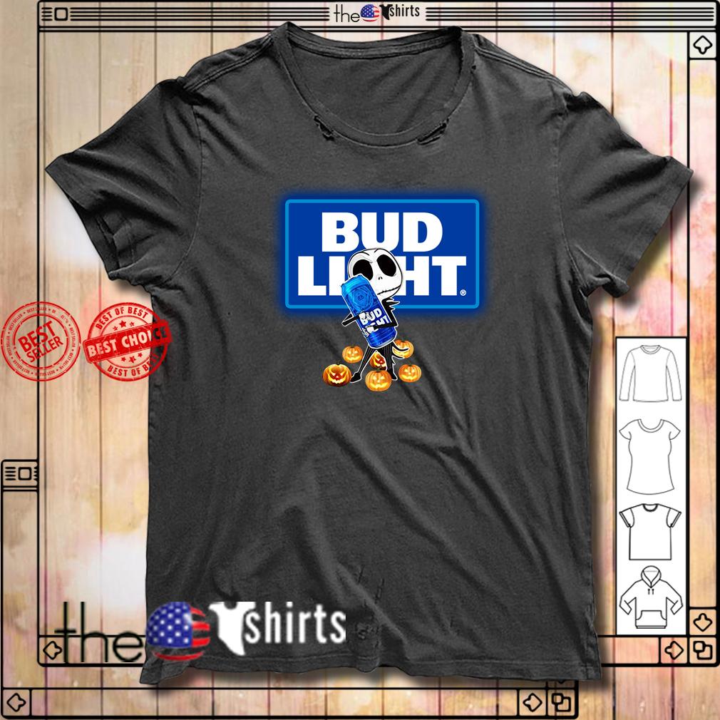 Jack Skellington hug Bud Light Halloween shirt
