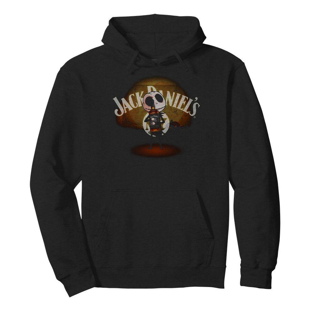 Jack Skellington hug Jack Daniel's Halloween Hoodie