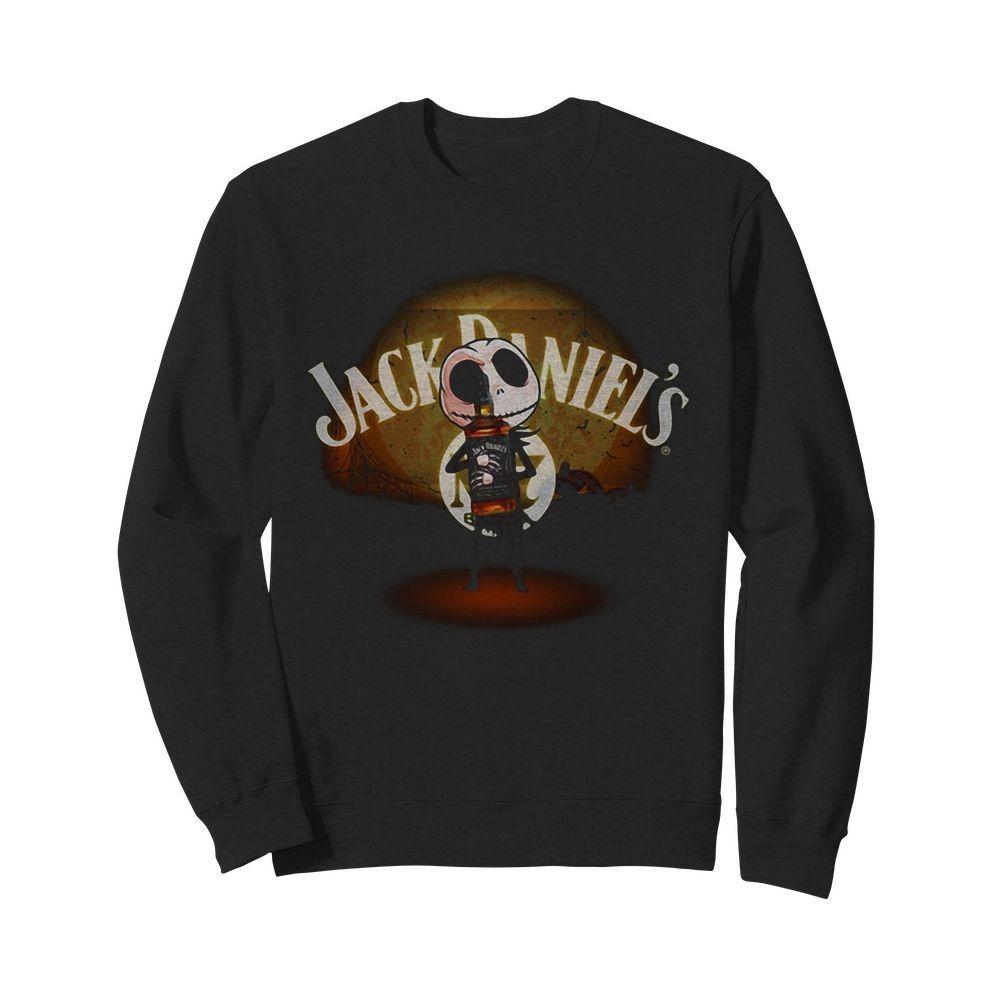Jack Skellington hug Jack Daniel's Halloween Sweater