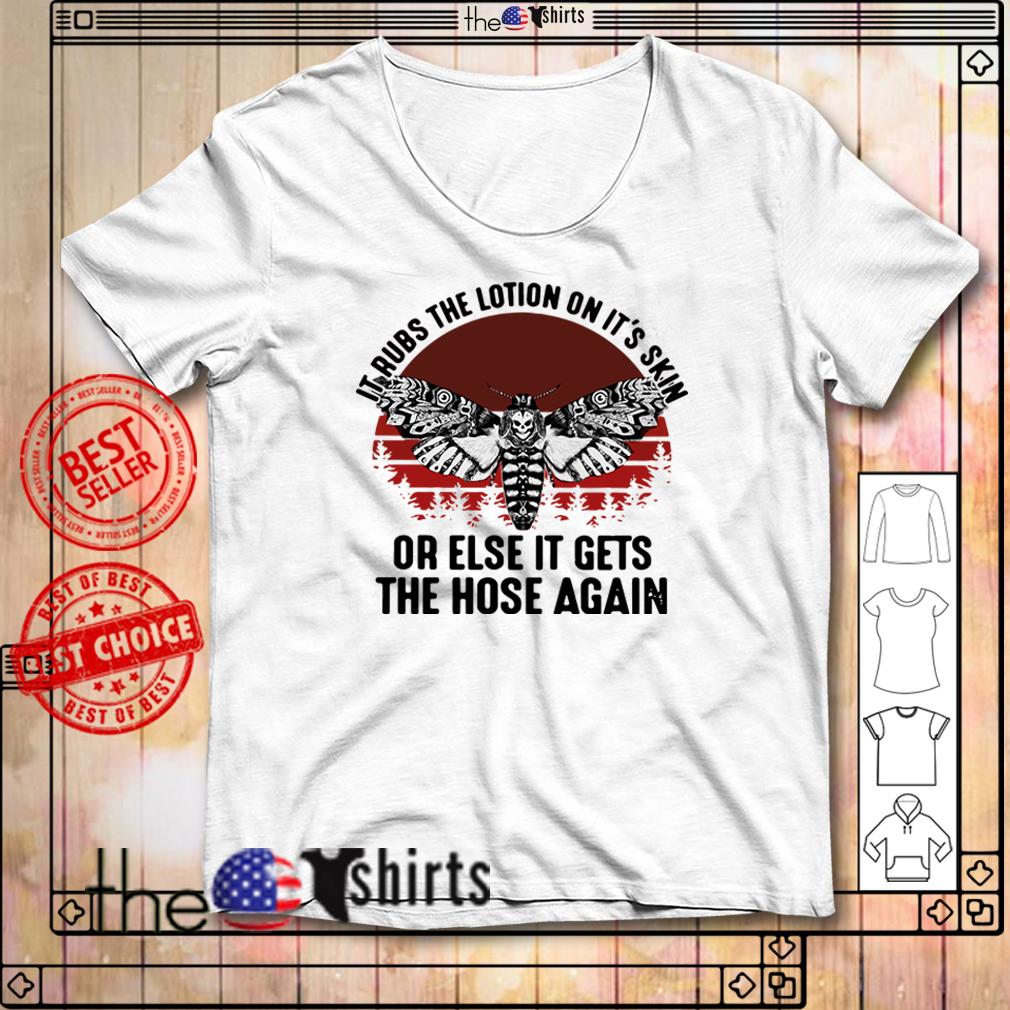 Jigsaw Buffalo Bill's Body Lotion it rubs the lotion on it's skin shirt