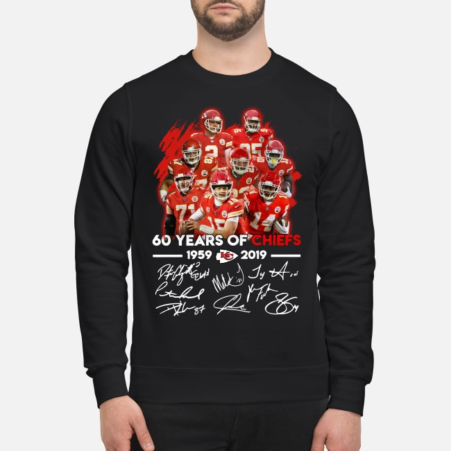Kansas City Chiefs 60 years of Chiefs 1959-2019 signatures Sweater