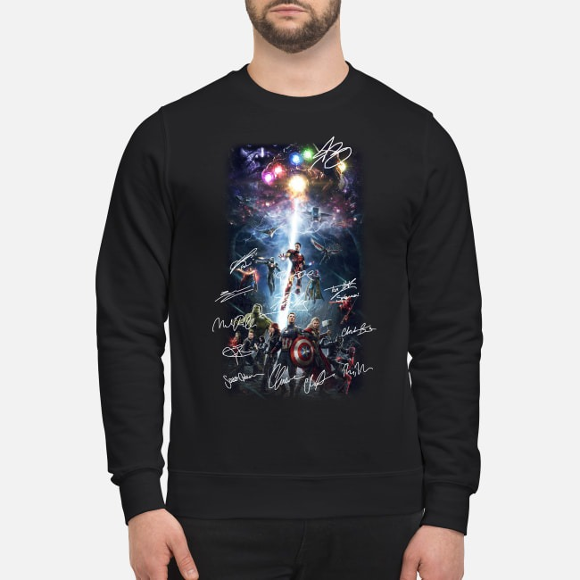 Marvel Avengers Infinity War all characters poster signature Sweater