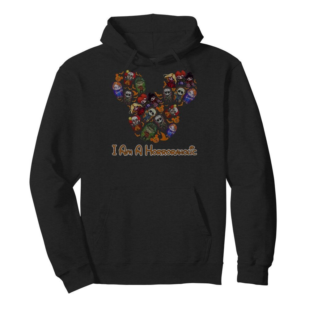 Mickey Mouse I'm a horror aholic Hoodie