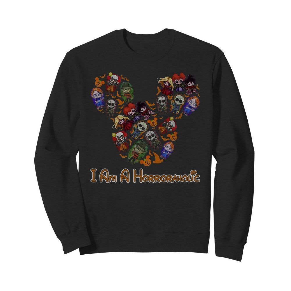 Mickey Mouse I'm a horror aholic Sweater