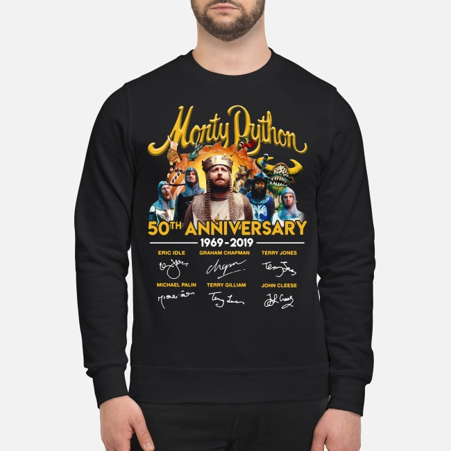 Monty Python 50th anniversary 1969-2019 signatures Sweater