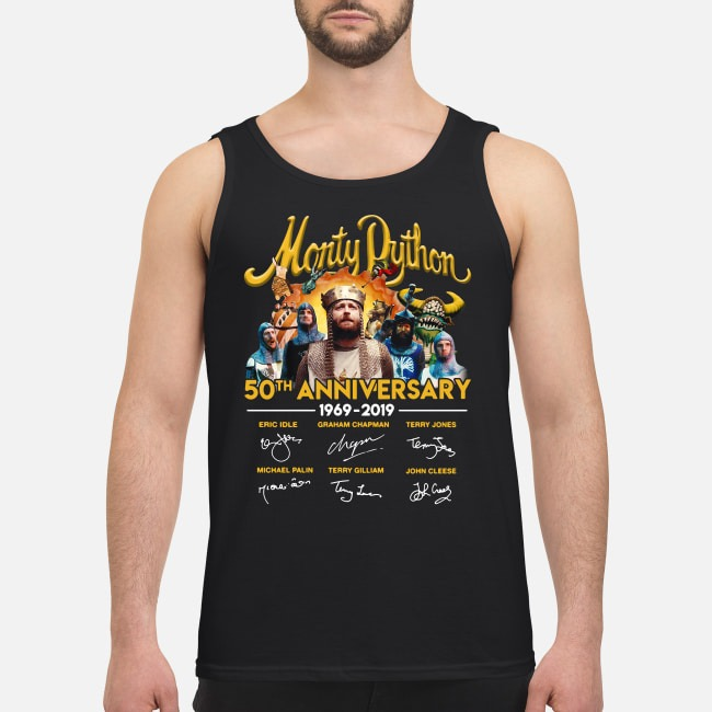Monty Python 50th anniversary 1969-2019 signatures Tank top