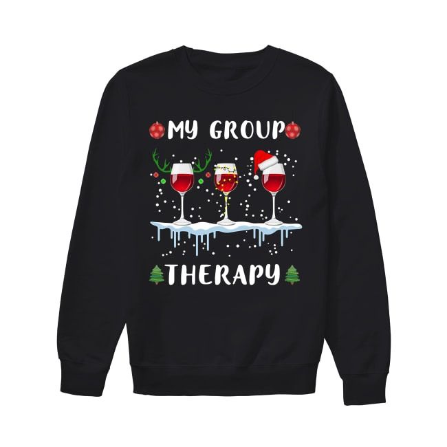 My group therapy wine glass Christmas Sweater