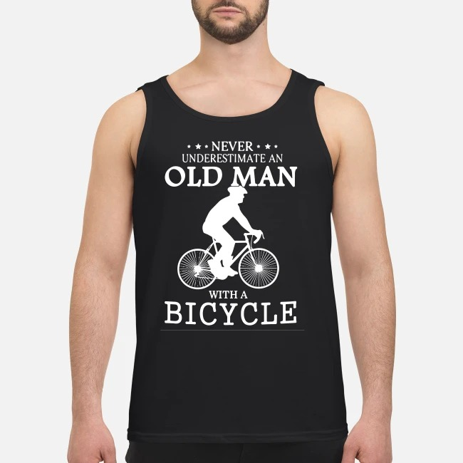 Never underestimate an old man with a bicycle Tank top