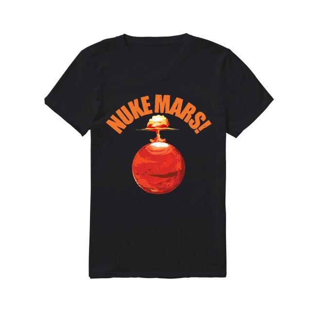 Nuke Mars Elon Musk V-neck T-shirt
