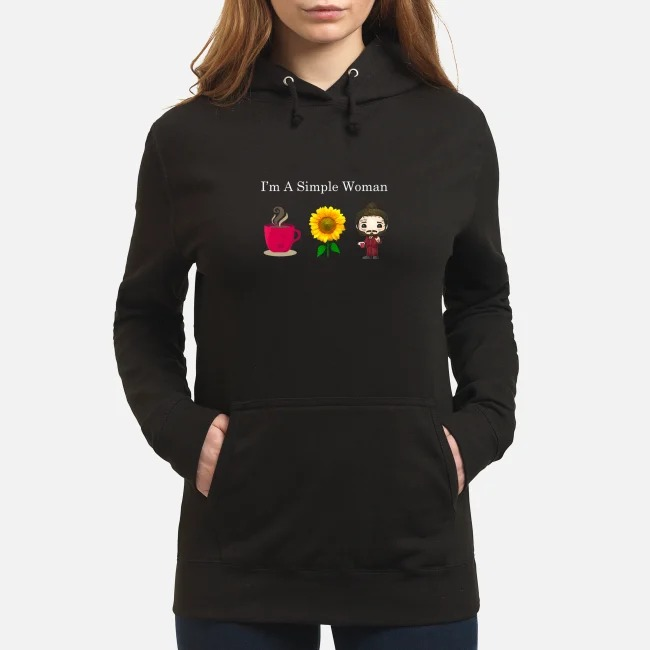 Post Malone I'm a simple woman loves coffee sunflower Post Malone Hoodie
