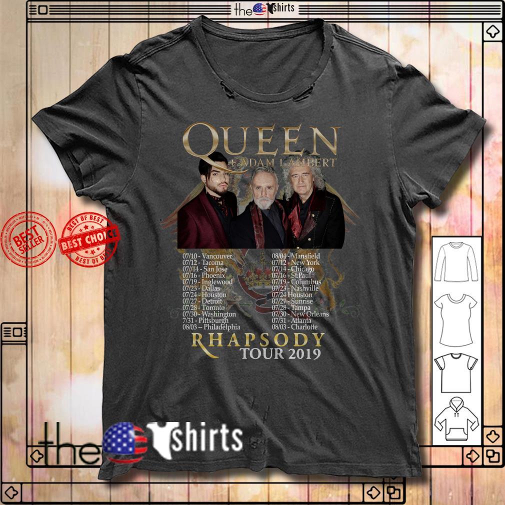 Queen Adam Lambert 2019 Rhapsody Tour shirt