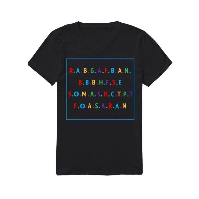 Rabgafban Act Up City Girls V-neck T-shirt