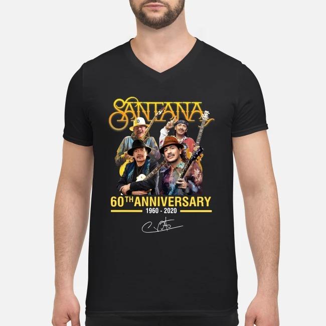 Santana 60th anniversary 1960-2020 signature V-neck T-shirt