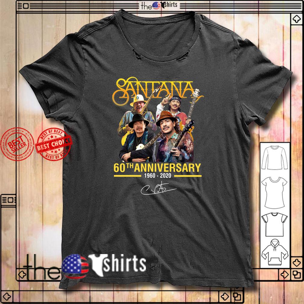 Santana 60th anniversary 1960-2020 signature shirt