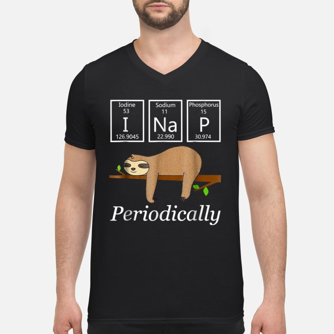 Science sloth I nap periodically V-neck T-shirt
