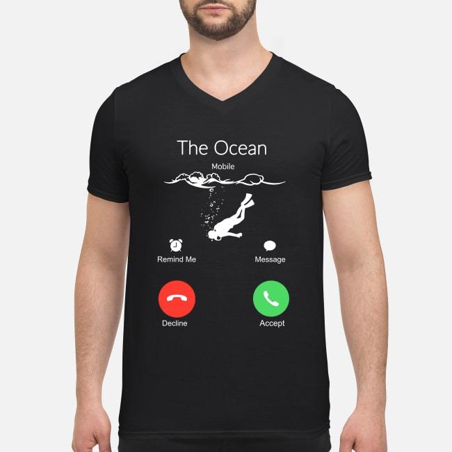 Scuba Diving the ocean is calling V-neck T-shirt