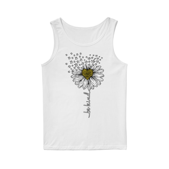 Sign language flower be kind Tank top