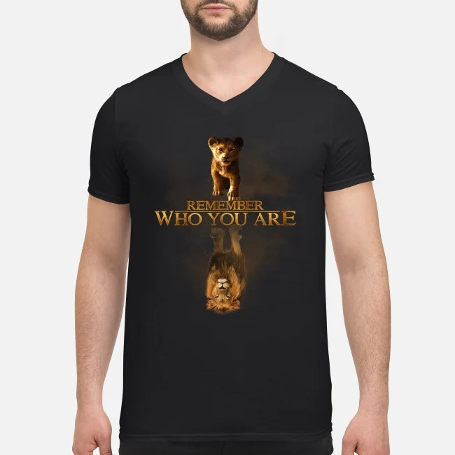 Simba Reflection Mufasa The Lion King remember who you are V-neck T-shirt
