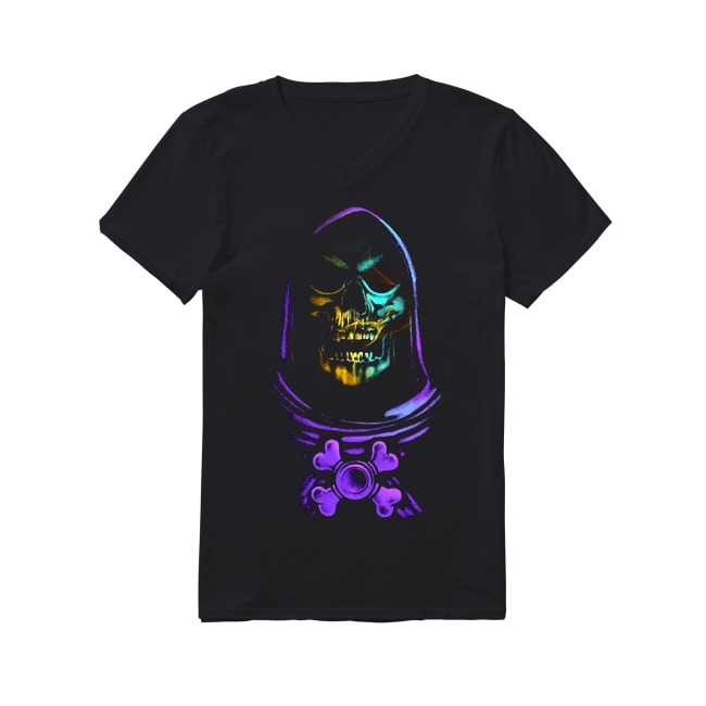 Skull Skeleton V-neck T-shirt