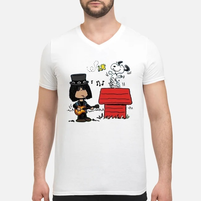 Slash and Snoopy V-neck T-shirt