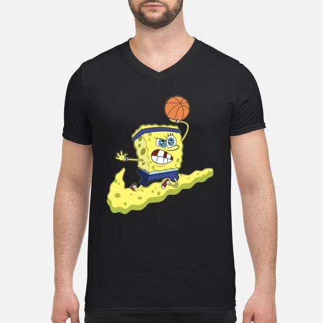 Spongebob Basketball V-neck T-shirt