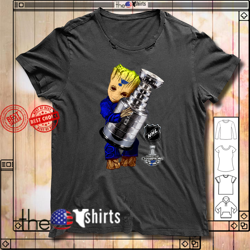 St. Louis Blues Baby Groot Hug Stanley Cup Champions 2019 shirt