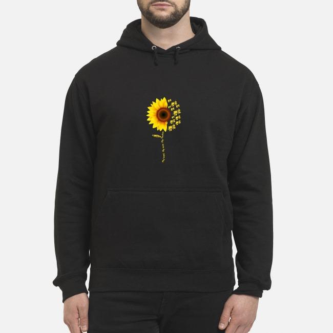 Sunflower My Heart My Hero My Trucker Hoodie