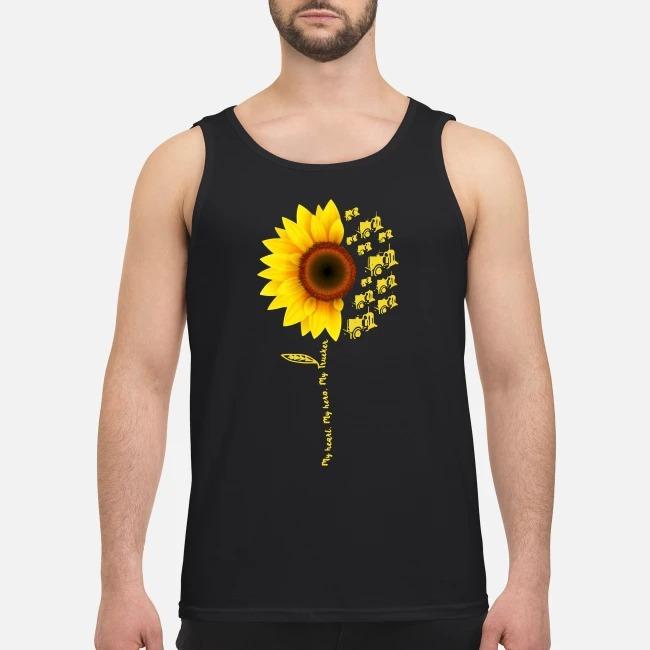 Sunflower My Heart My Hero My Trucker Tank top
