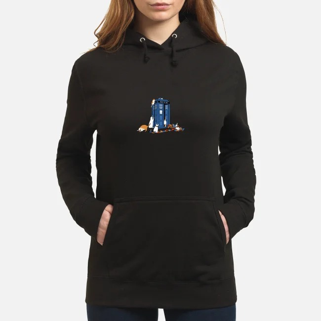 Tardis Cats Around Police Box Doctor Who Hoodie