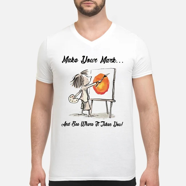 The Dot Make your mark and see where it takes you V-neck T-shirt