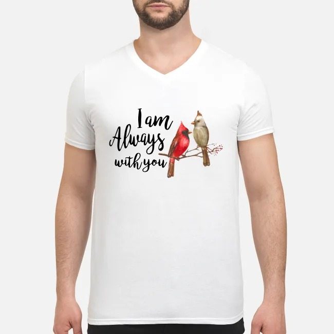 The Northern Cardinal I am always with you V-neck T-shirt