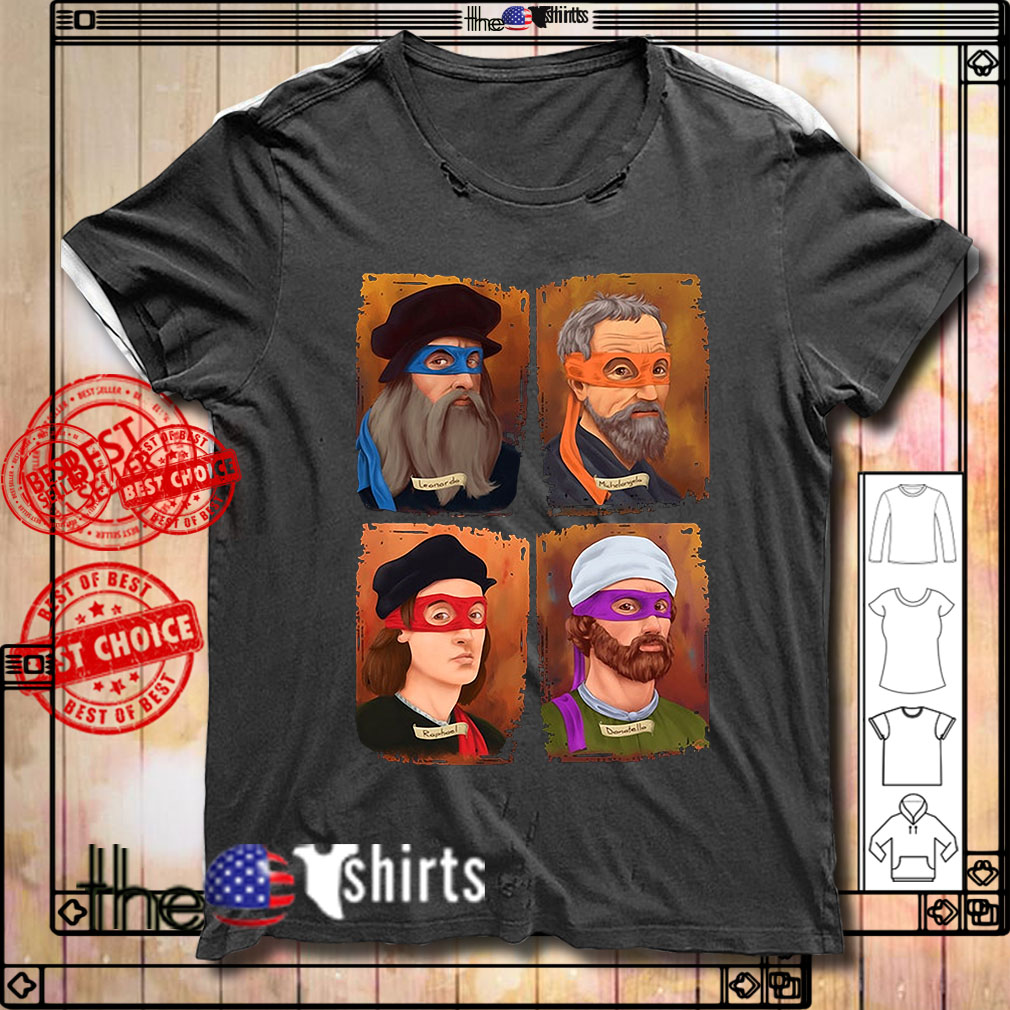 TMNT Science Leonardo Raphael Donatello Michelangelo shirt