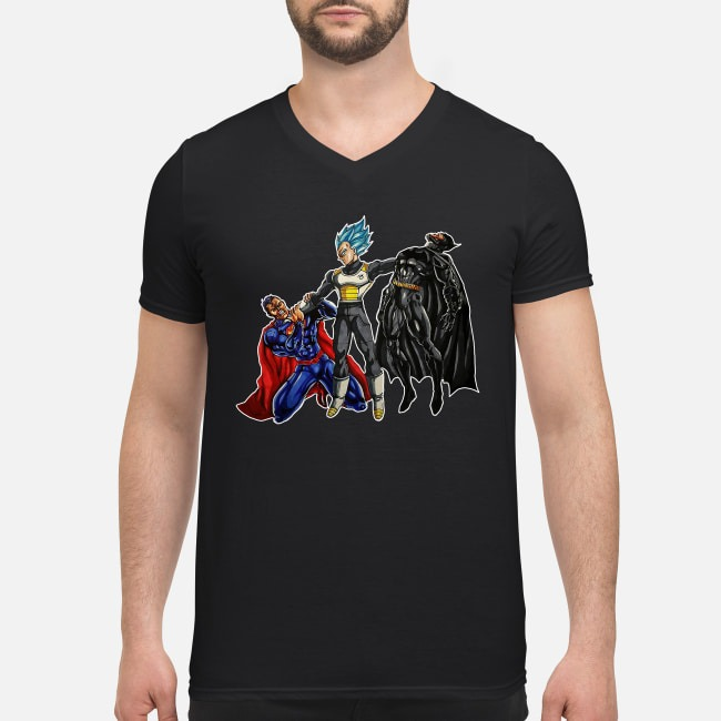 Vegeta Superman Batman V-neck T-shirt