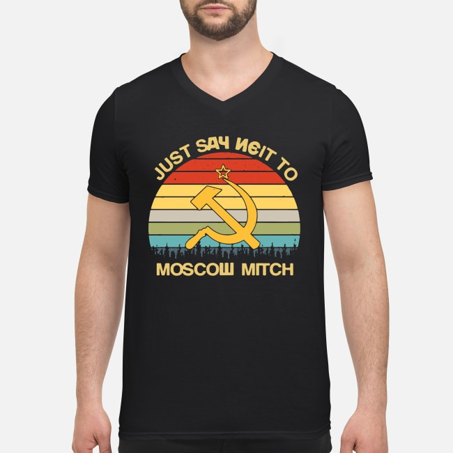 Vintage Just Say Neit To Moscow Mitch V-neck T-shirt