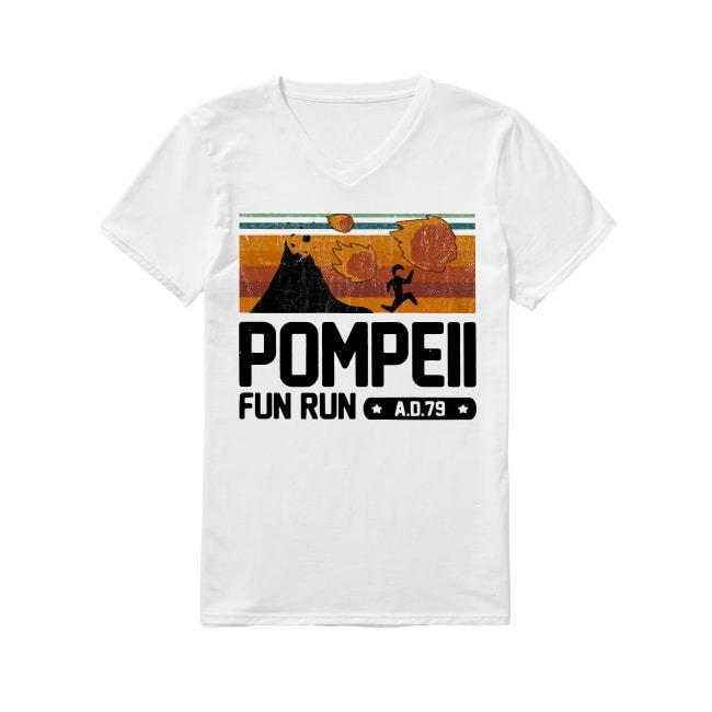 Vintage Pompeii fun run AD 79 V-neck T-shirt