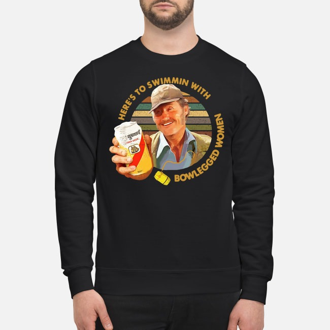 Vintage Quint Jaws Here's To Swimmin With Bowlegged Women Sweater