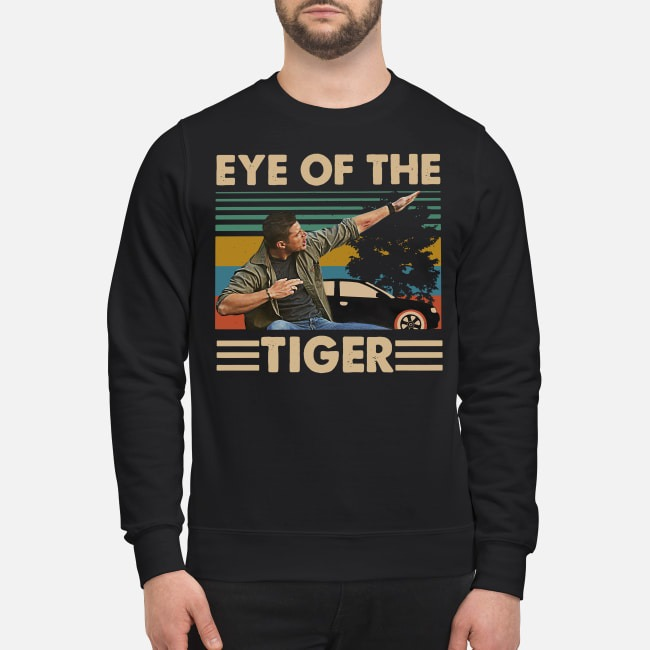 Vintage Supernatural Dean Winchester Eye of the tiger Sweater